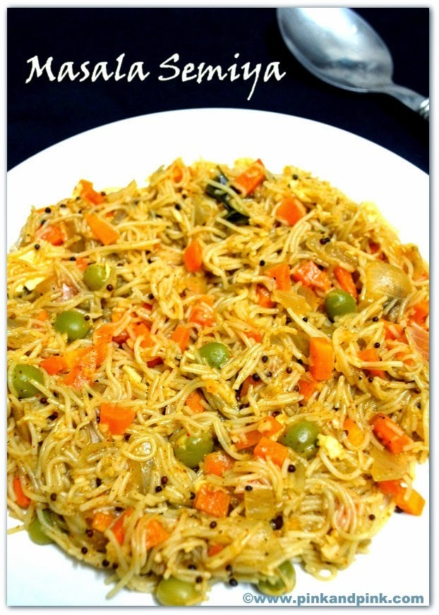 Semiya Upma Recipe - Masala Semiya - How to make Semiya upma