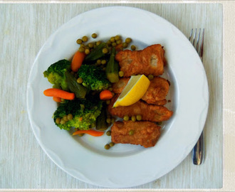 Fried Fish Sticks with Broccoli and Okra Recipe | You've Got Meal!