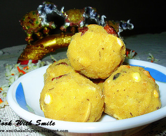 HESARITTINA UNDE / MOONG DAL LADDU / SPLIT GREEN GRAM SWEET BALLS