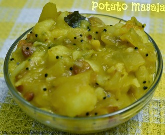 Potato Masala / Poori Masala - without using Gram flour