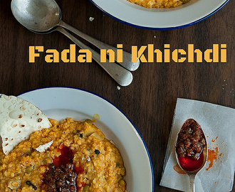 A tribute to Tarla Dalal | Fada Ni Khichdi recipe