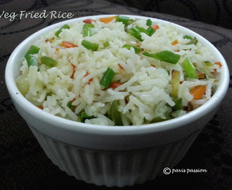 Veg Fried Rice | Chinese Fried Rice.