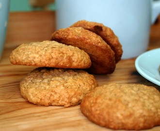 honey and cinnamon oat biscuits