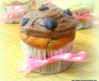 Cup cakes con chips de chocolate