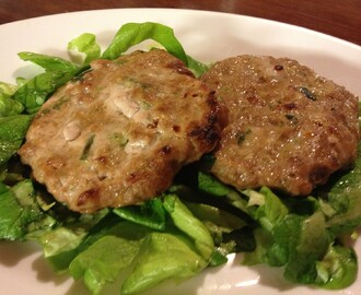 Spring Onion Pork Burgers With An Incredibly Lazy Salad
