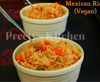 Mexican Rice Recipe / Vegan ( Step By Step Pictures)