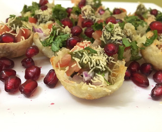 Delicious Aloo Chana Katori Chaat