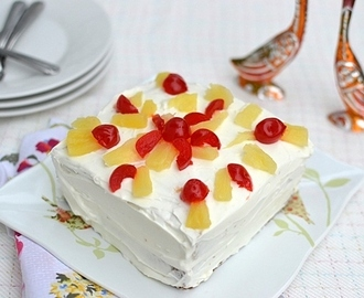 Eggless Pineapple Cool Cake