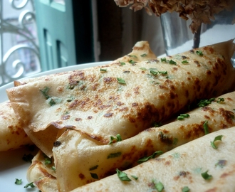 Crepes de azeite/ Olive oil crepes