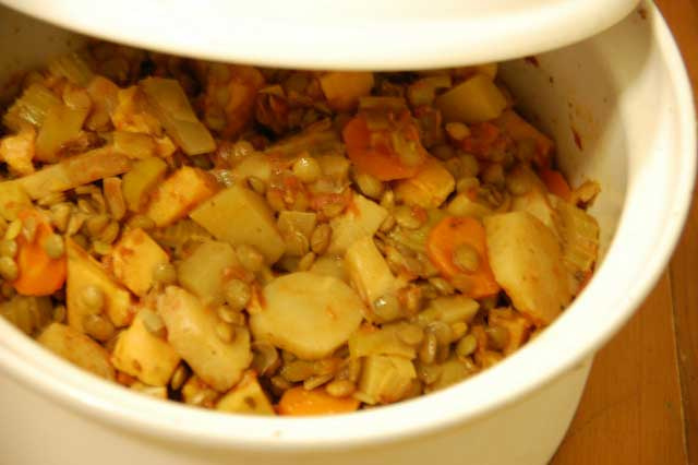 Winter Lentil And Vegetable Casserole
