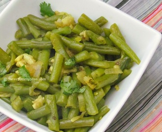 Kosoi Bwtwi / Green Beans Garlic Curry ~ No Oil Recipe