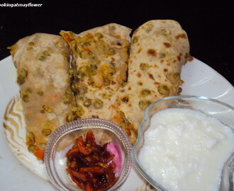Vegetable mixed parathas