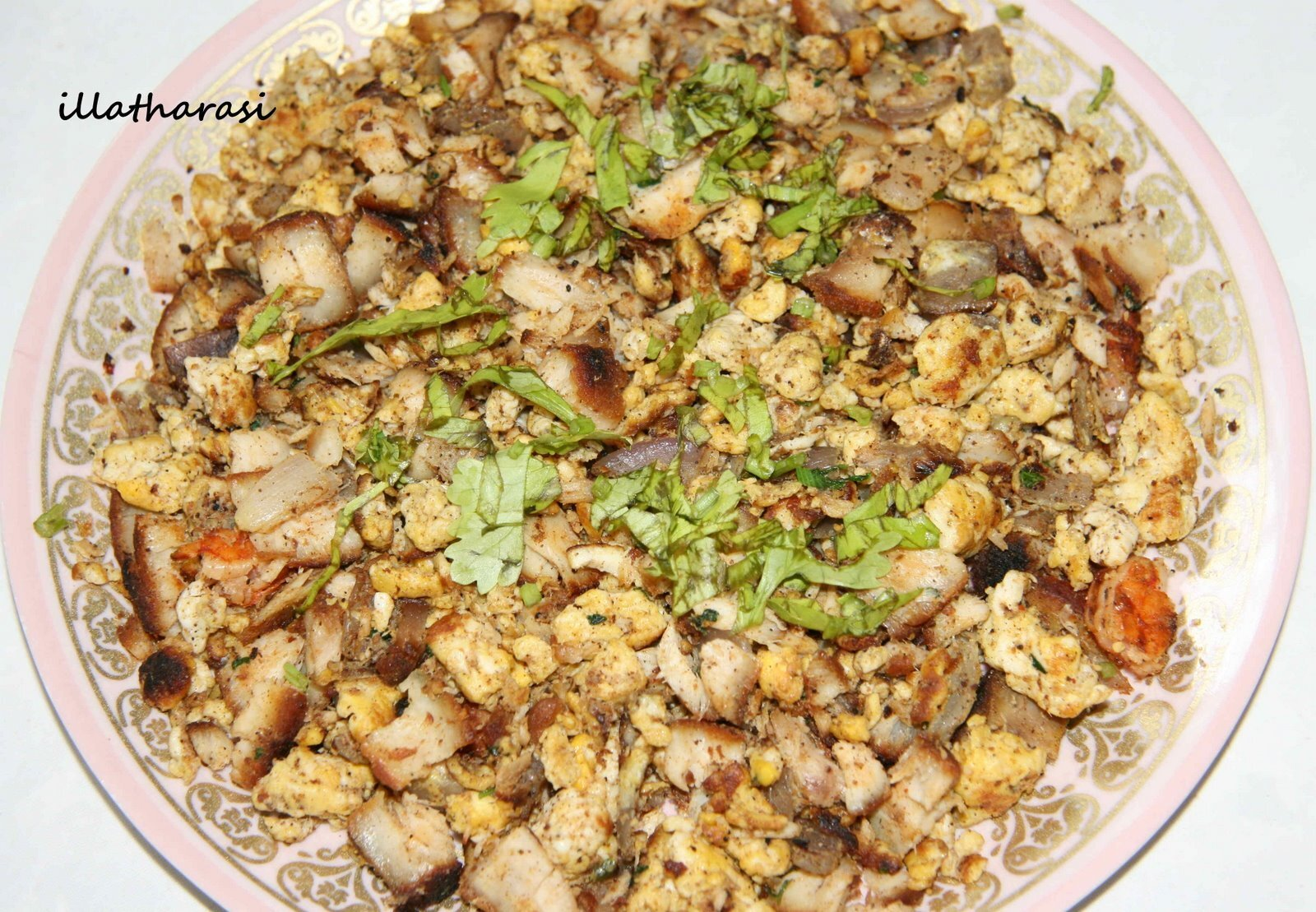 Leftover Fish - Egg Masala