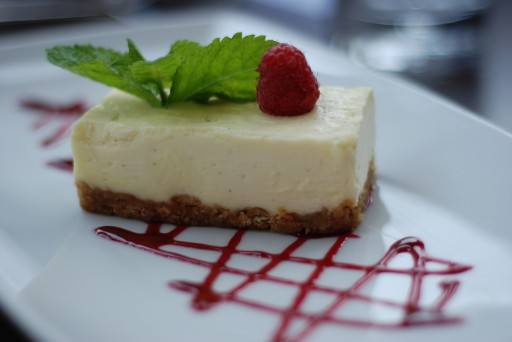 Secret white chocolate cheesecake