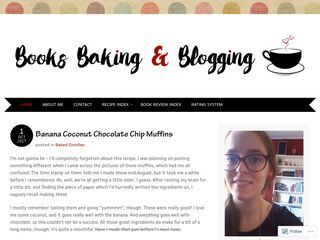 Book's baking and blogging