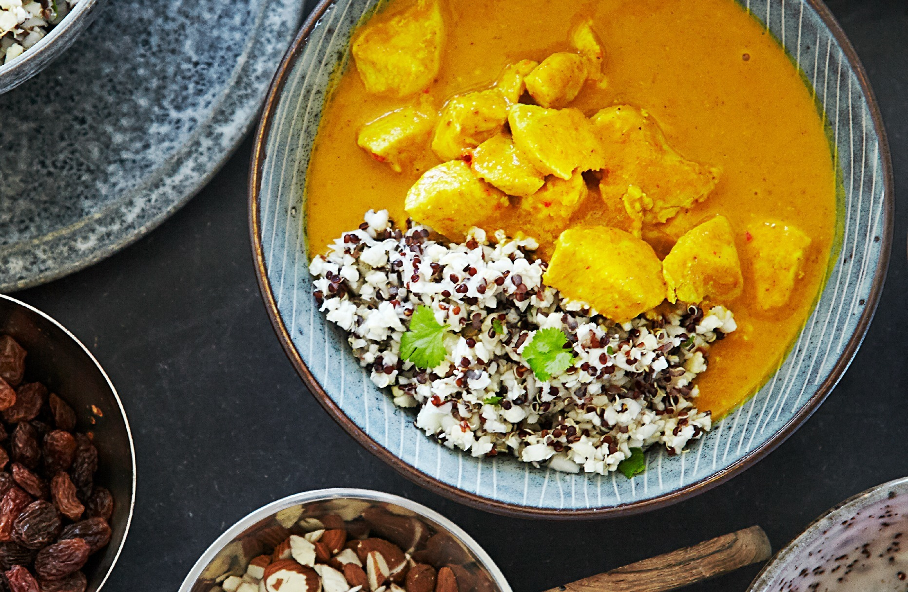 Indian Chicken Curry with Cauliflower and Quinoa Rice