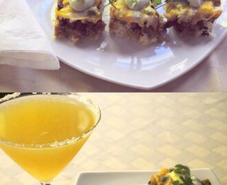 Spicy Mexican Bisquick Appetizers with a Mexican Martini