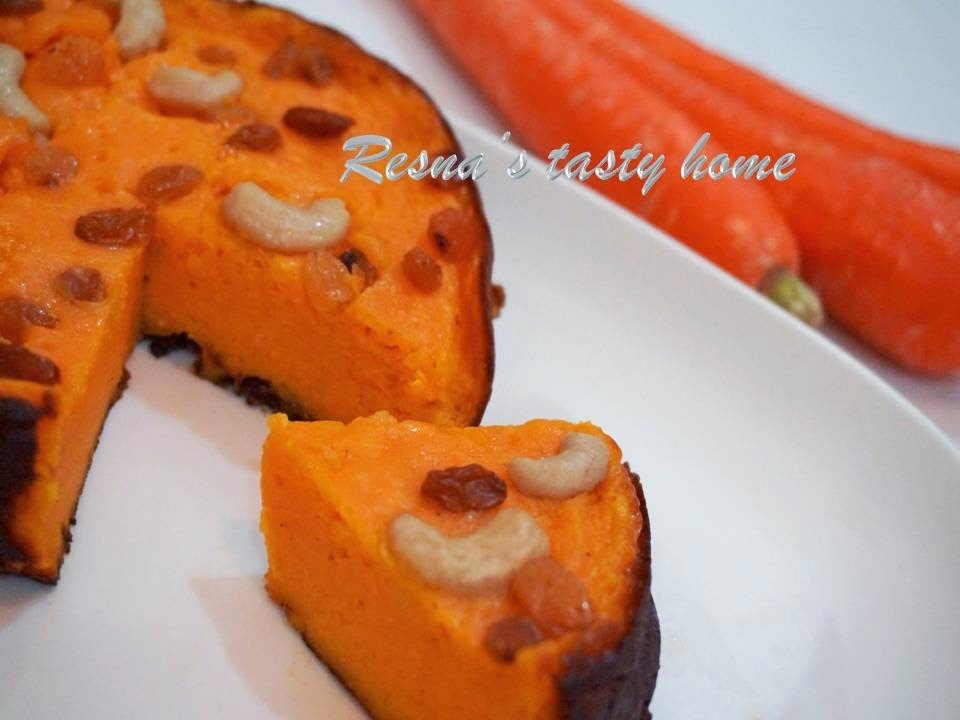 Carrot pola / carrot kums / carrot pudding -stepwise picture