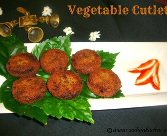 Vegetable Cutlets /Mixed Vegetable Cutlets -  How to make Vegetable Cutlets.