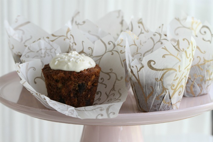 Banana Muffins & Banana cream cheese frosting