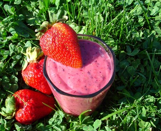 Smoothie vert à l'avocat & petits fruits champs