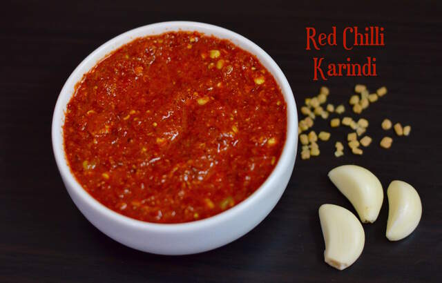 Red Chilli Karindi|Menthe Hindi|North Karnataka style Karindi