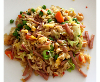 Klassisk fried rice ala kinesisk