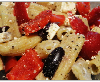 Pasta, Pepper and Feta Salad