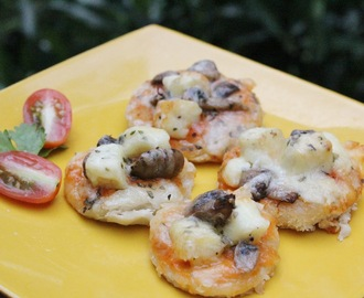 Mini Pizza - Paneer Mushroom & cherry tomato topped