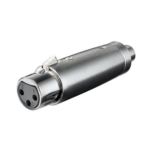Adapter XLR-hona till RCA-hona. XLR-adapter