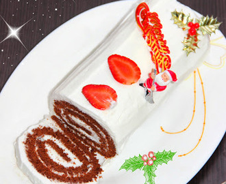 Chocolate Swiss Roll/ Chocolate Cake Roll/ Swiss Roll/ Jelly Roll/ Swiss Cake Roll