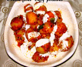 Cream fried baby potatoes