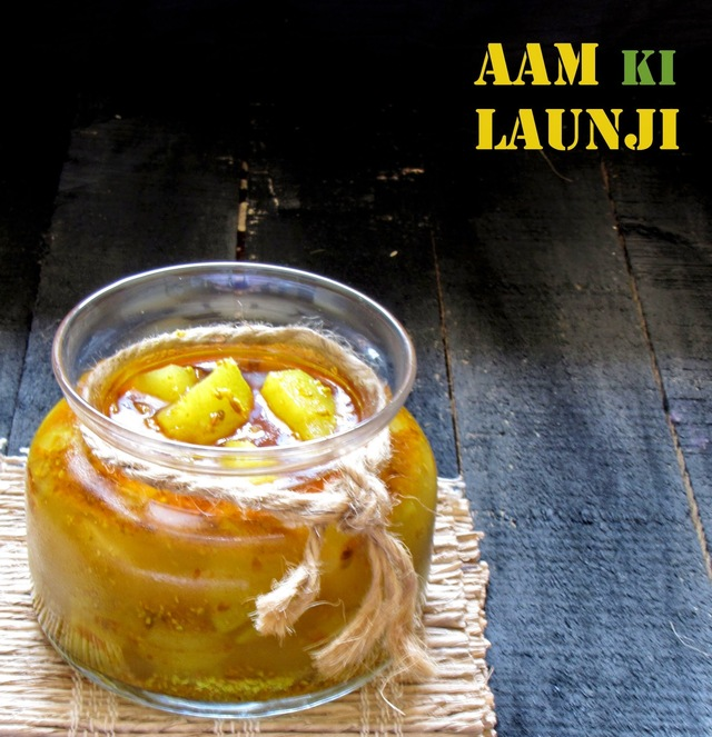 Aam Ki Launji/Instant Mango Pickle/Raw Mango Relish