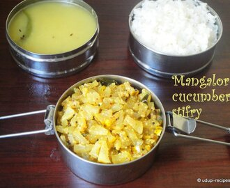 Mangalore Cucumber Stir fry | Southekayi Palya I Yellow Cucumber Dry Curry