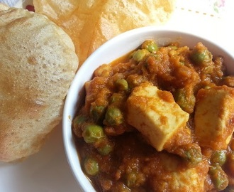 Paneer Peas masala – Spicy side dish with Pooris or Rotis