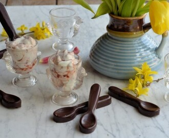Easter Treats! Little Cadbury Creme Egg Pots with Chocolate Dipping Spoons