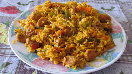 Vegetable Pulav (Rice cooked with vegetables)