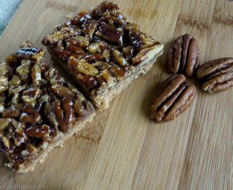 Maple and Pecan Squares with a Cinnamon Biscuit Base