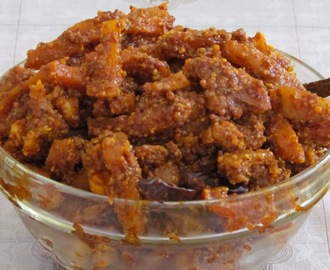 Spicy  Mixed Vegetable Pickle (Less oily nutritious vegetable pickle)
