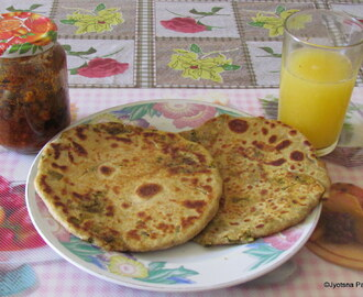 Parantha Sadabahar(Vegetables stuffed Pan fried Indian Flat Bread)