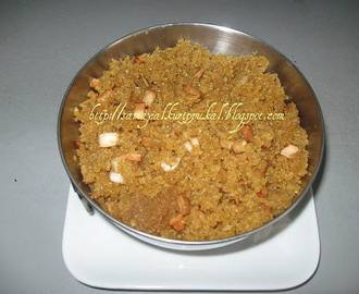 Aval Puttu( Sweet Beaten Rice, Poha Puttu)