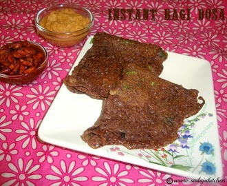 Instant Ragi Dosa / Ragi Dosa Recipe / How to make Ragi Dosa / Quick Ragi Dosa Recipe