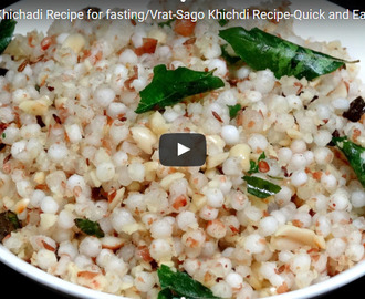 Sabudana Khichdi Recipe Video
