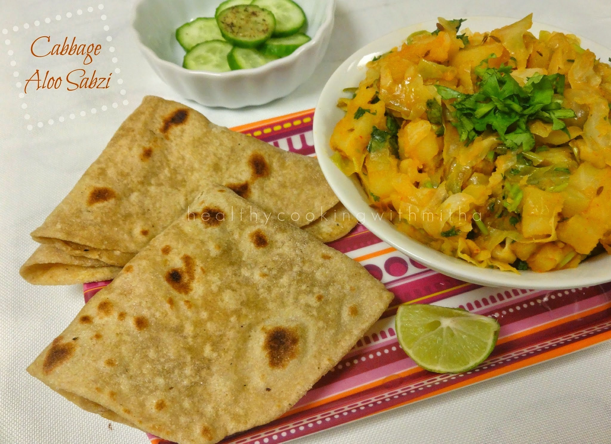 Cabbage Aloo Sabzi | North Indian style Cabbage & Potatoes