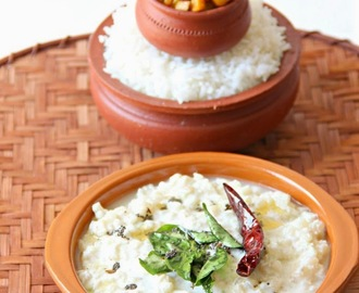 Vazhai Thandu Moor Kootu/ Banana Stem in Yogurt Sauce
