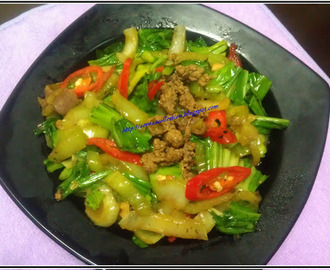 STIR-FRY TAIWAN SPINACH WITH CHICKEN LIVER
