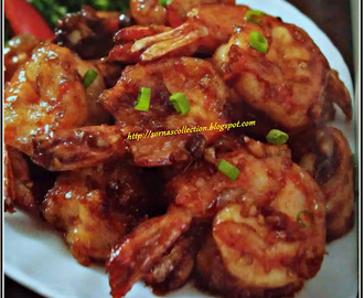 FRIED PRAWNS IN SWEET SOYA SAUCE