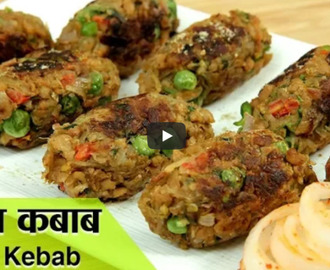 Veg Soya Kebab Recipe Video