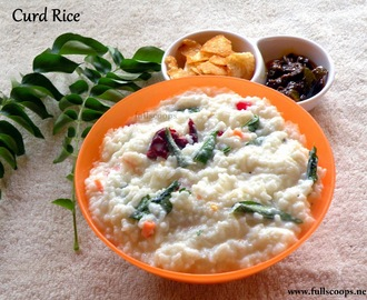 Curd Rice / Thayir Sadam / How to make curd rice