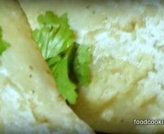 Traditional steamed lemon bhetki recipe - rolled like roulade cooked as paupiette
